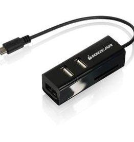 Iogear IOGear USB OTG Card Reader with Hub for Mobile Devices