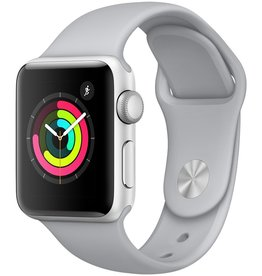 Apple MQKU2LL/A Apple Watch Series 3 38mm - Silver Aluminum Case w/ Fog Sport Band