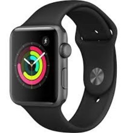 Apple MQL12LL/A Apple Watch Series 3 42mm - Space Gray Aluminum Black Sport Band