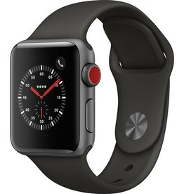 Apple MR2W2LL/A Apple Watch Series 3 38MM (GPS + CELLULAR) - Space Gray Case/Gray Sport Band