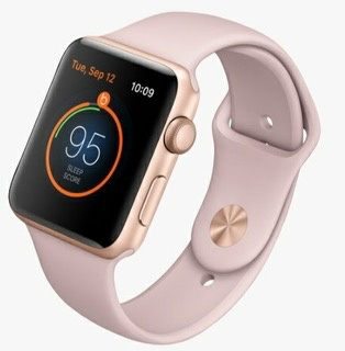 Apple MQL22LL/A Apple Watch Series 3 42MM - Gold Aluminum w/ Pink Sand Band