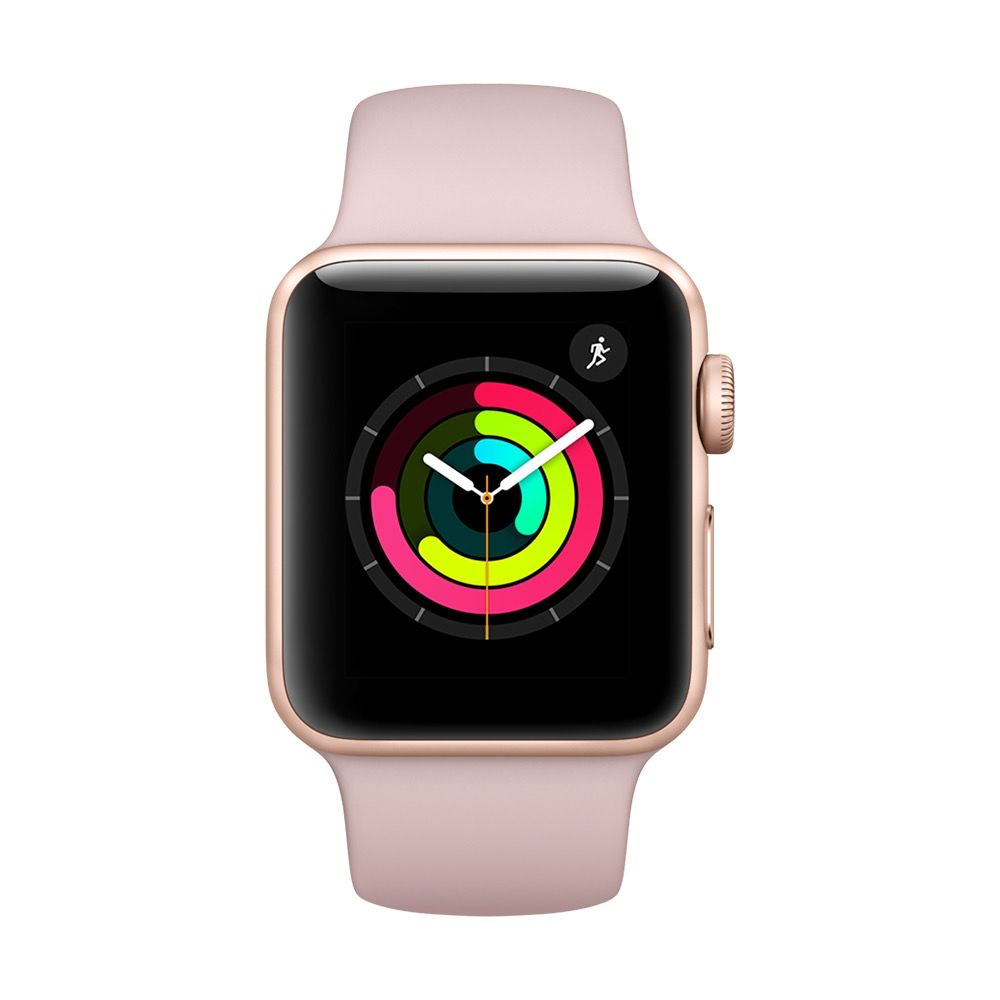 Apple MQKW2LL/A Apple Watch Series 3 38mm - Gold w/ Aluminum Pink Sand Sport Band