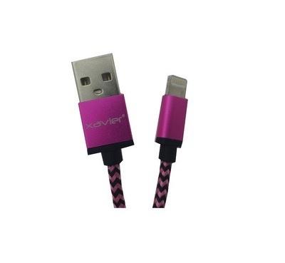 Xavier Xavier Braided Lightning Cable USB 6 Feet - Pink