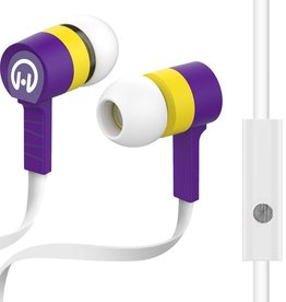 HyperGear Low Ryder Earphones with Mic - White / Purple / Yellow
