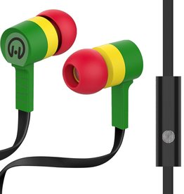 HyperGear Low Ryder Earphones with Mic - Reggae