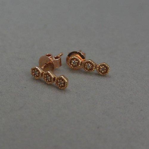 Dana Rebecca Hexagon Bar earrings