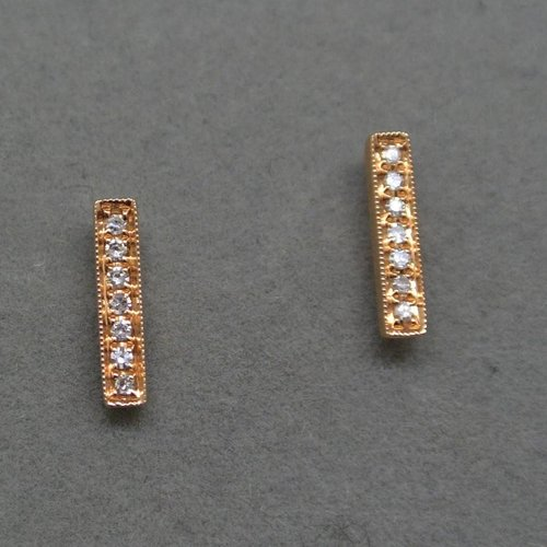Dana Rebecca Diamond bar earrings