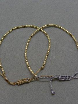 Hortense Yellow Gold Ball bracelet