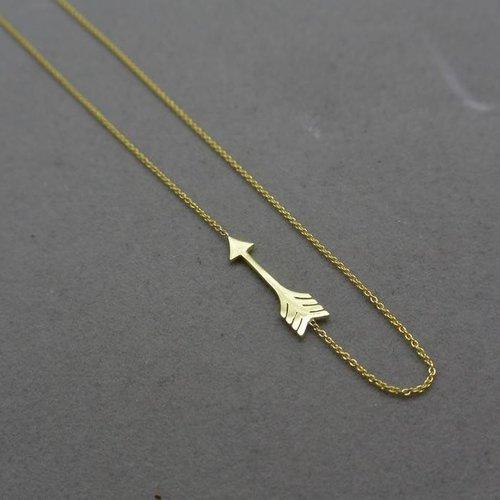 Jennifer Meyer Mini arrow necklace