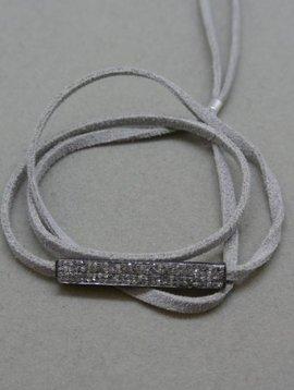 Lera Jewels Diamond Bar Wrap Bracelet