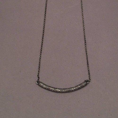 Large Diamond Bar Necklace