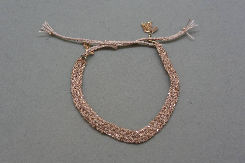 Marie-Laure Chamorel Chain and Silk Bracelet