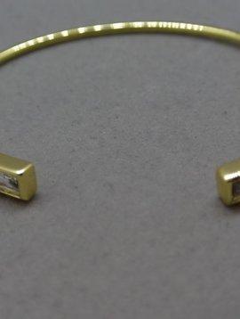 Rachel Ryen Open Baguette Bracelet