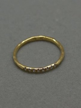 Vale Yellow Gold Arc Ring