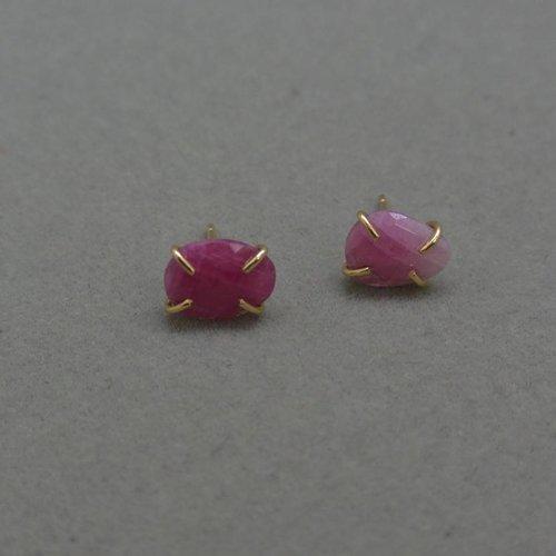 Melissa Joy Manning Pink Sapphire Earrings
