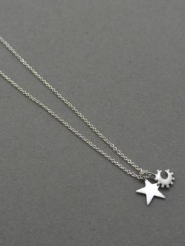 Me&Ro Star and Crescent Necklace
