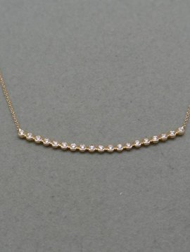 Dana Rebecca Curved Bar Diamond Necklace
