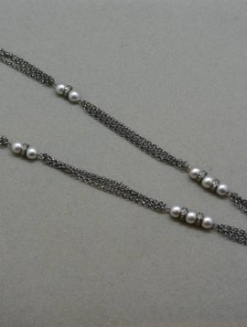 Lotasi Jewels Diamond and Pearl Necklace