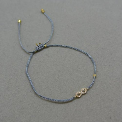 Tai Grey Infinity Bracelet