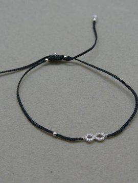 Tai Black Infinity Bracelet
