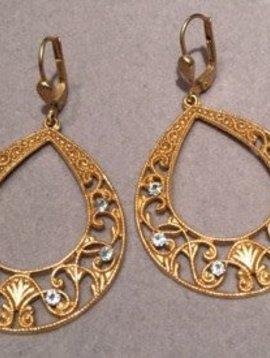 La Vie Parisienne Intricate Teardrop Earrings