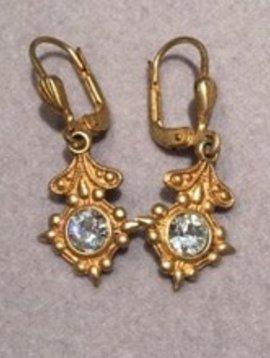 La Vie Parisienne Crystal Detail Drop Earrings