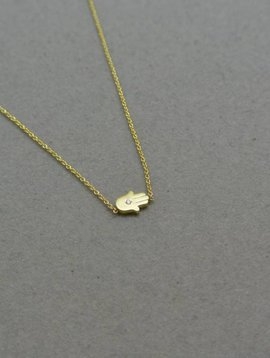 Jennifer Meyer Diamond Hamsa Necklace