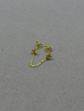 Jennifer Meyer Diamond Double Star Earring