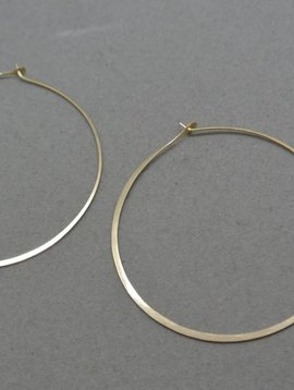 "Melissa Joy Manning Gold 2.25"" Hoops"