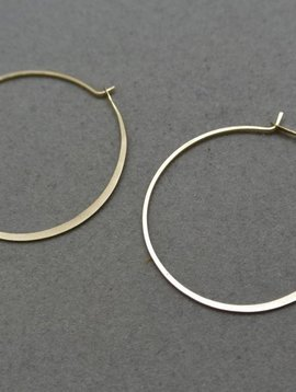 Melissa Joy Manning Gold Hoops