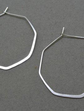 Melissa Joy Manning Sterling Silver Octogan Hoops