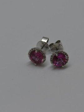 J. Hyman Pink Sapphire Studs
