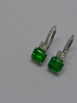 J. Hyman Emerald Earrings