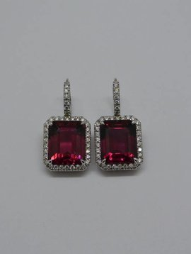 J. Hyman Red Tourmaline Earrings