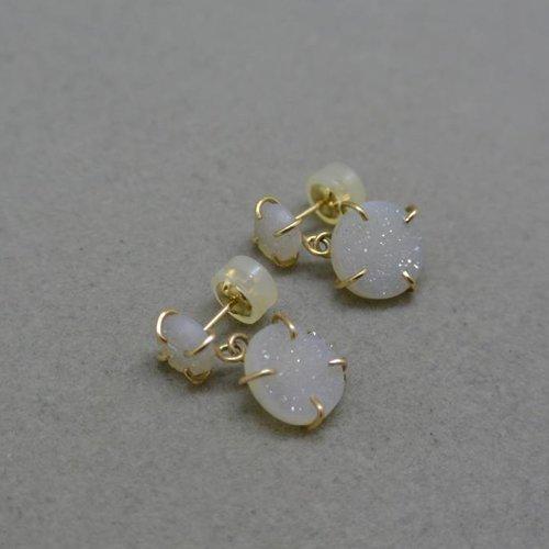 Melissa Joy Manning Druzy drop earrings