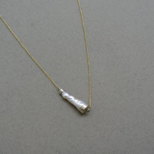 Melissa Joy Manning Biwa Tube Necklace