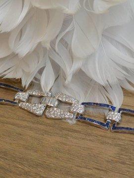 J. Hyman Diamond and Sapphire Bracelet