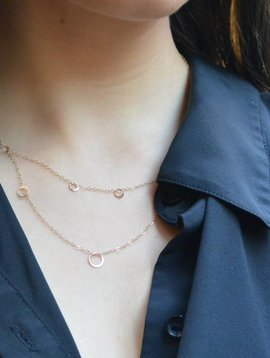 Melissa Joy Manning Scattered Circle Double Necklace