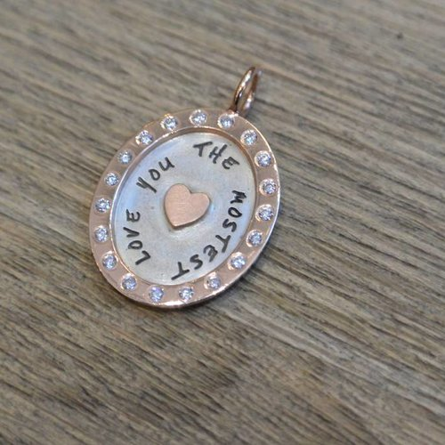 Heather Moore Framed oval love charm