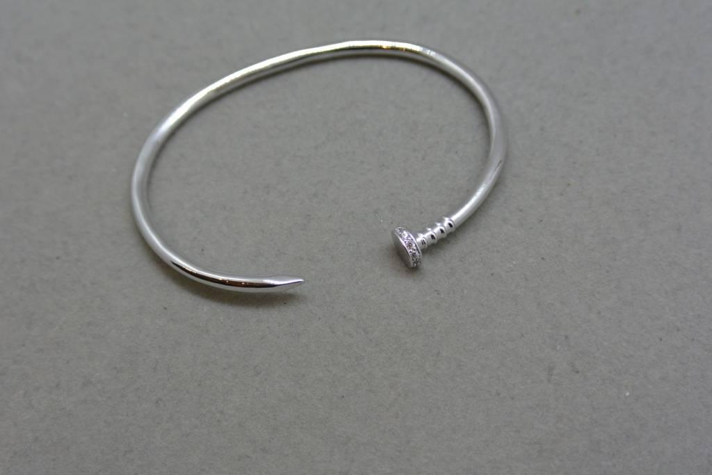Tai Silver Nail Bracelet