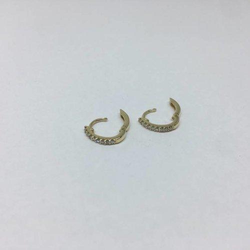 Dana Rebecca Yellow gold huggie earrings