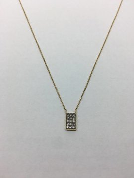 Adina Reyter Pave Rectangle Necklace