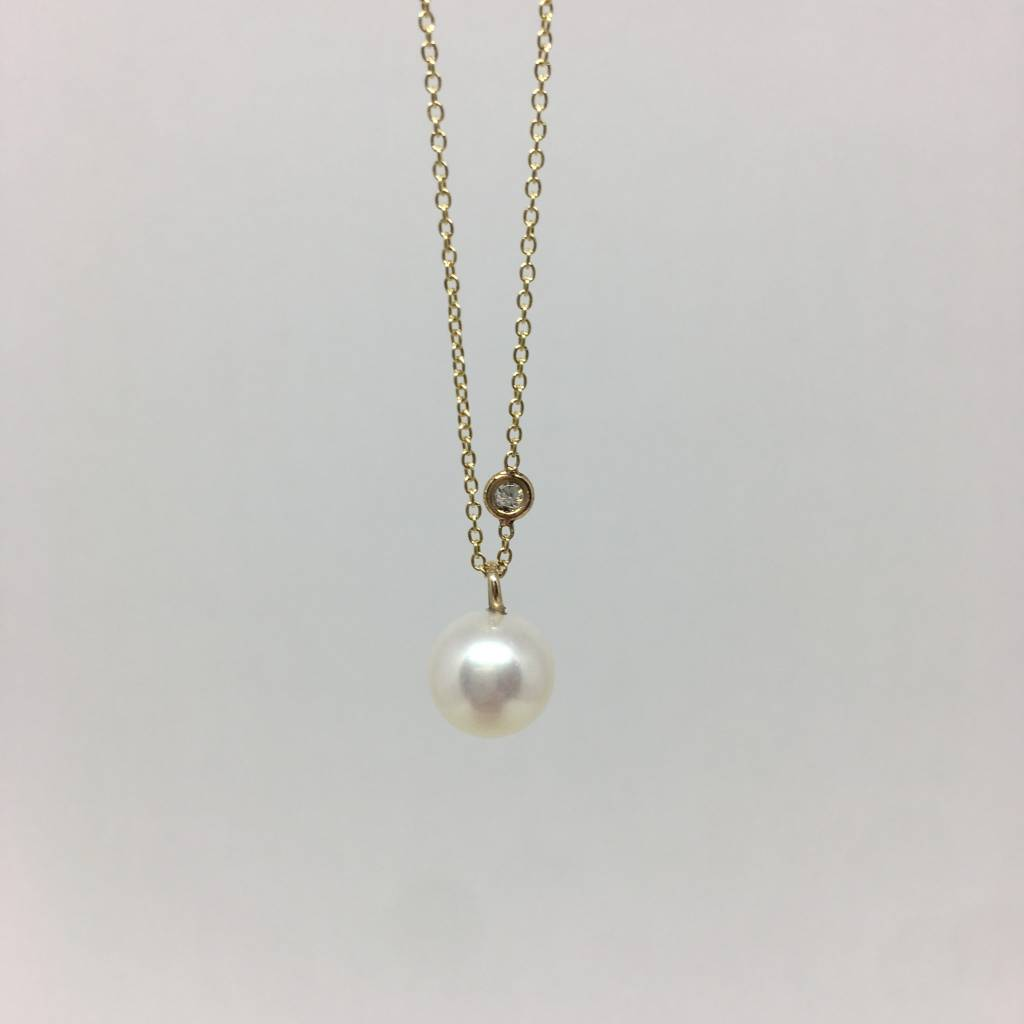 Zoe Chicco Diamond and Pearl Necklace