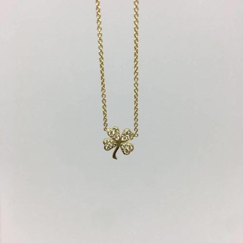 Jennifer Meyer Diamond Clover Necklace
