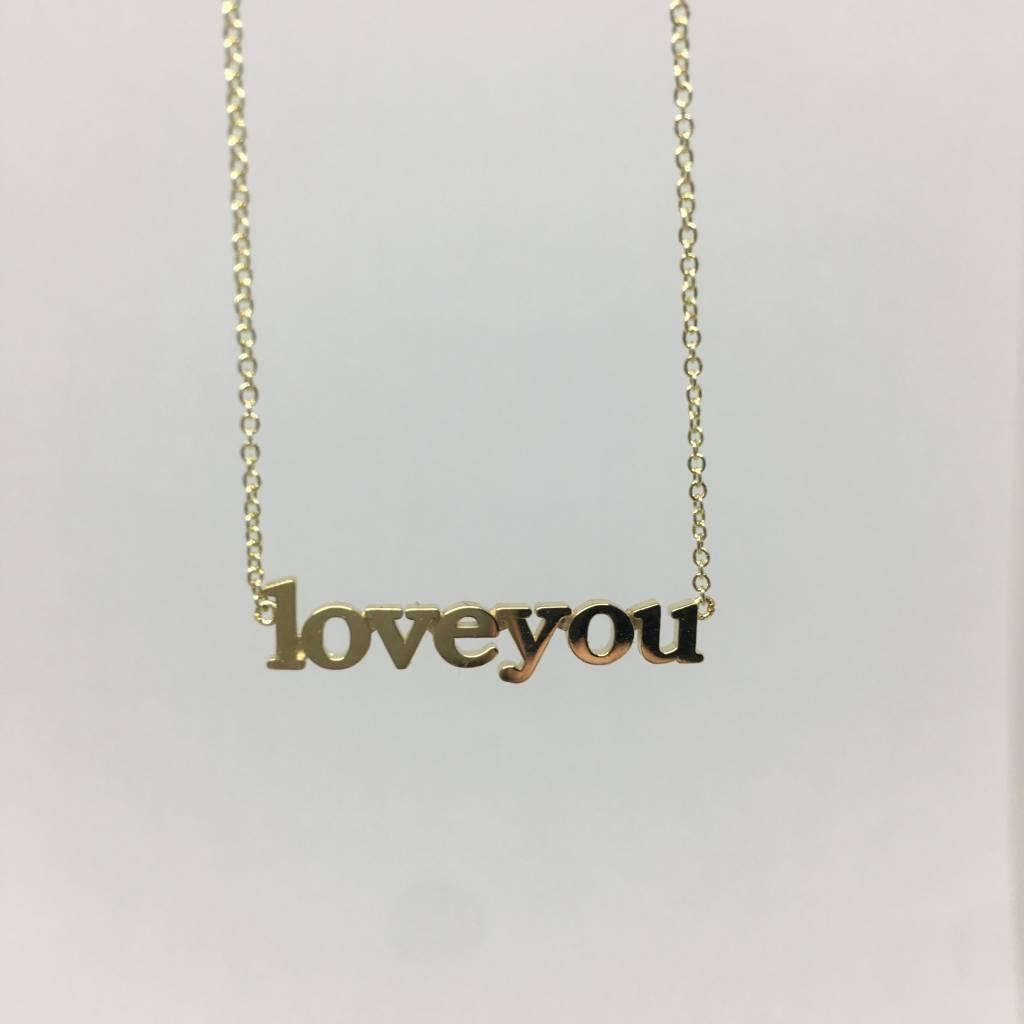 """Jennifer Meyer """"Love you"""" Necklace"""