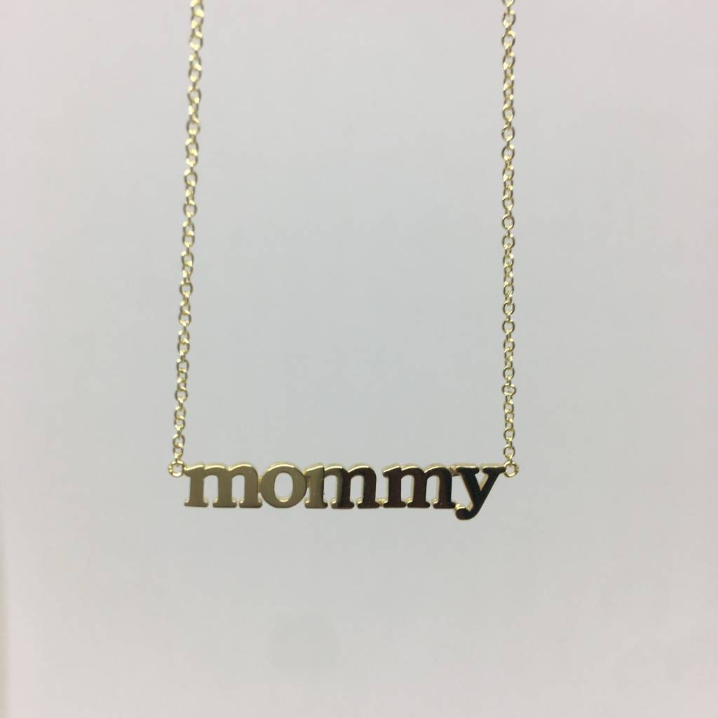 "Jennifer Meyer ""Mommy"" Necklace"