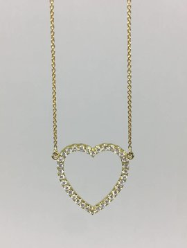 Jennifer Meyer Diamond Open Heart Necklace