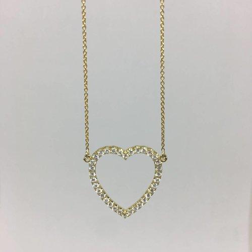 Jennifer Meyer Diamond open heart necklace
