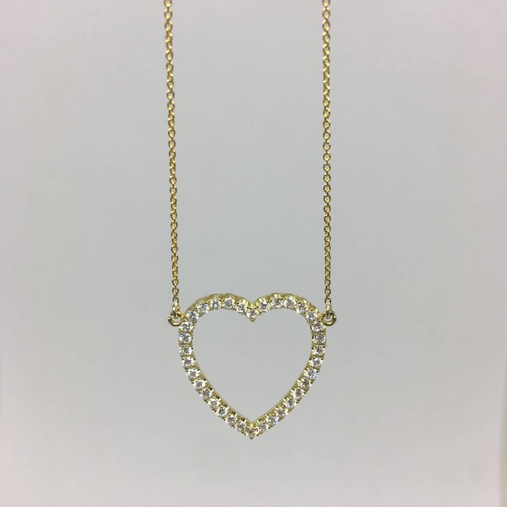by co in gold necklace jewelry pendants diamonds heart ed necklaces peretti jewellery the perettidiamonds yard rose tiffany elsa
