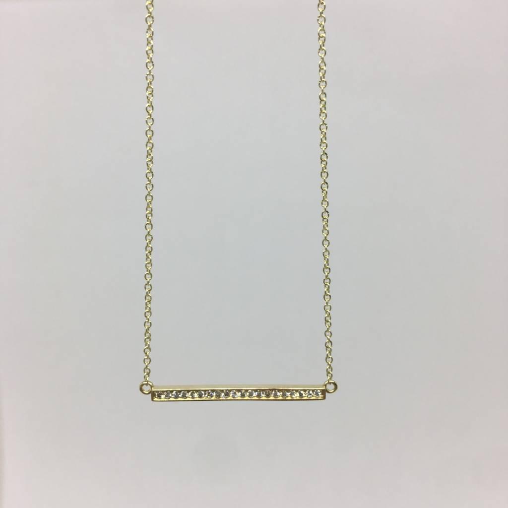 Jennifer Meyer Mini bar necklace